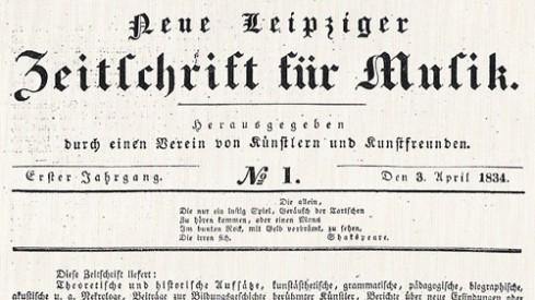 Neue Leipziger Zeitschrift für Musik Robert Schumann