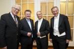 Rudolf Streicher _ Bürgermeister Ludwig _ Werner Frank (Bratsche) _  Helmut Lackinger ( 2.Violine)